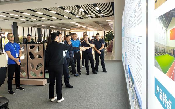 湖南省教育生产装备处领导莅临舒华台商工业园区考察