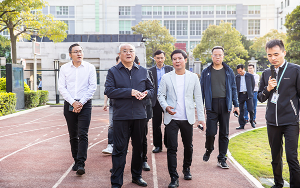 北京体育大学副校长张健一行莅临舒华台商工业园区考察指导